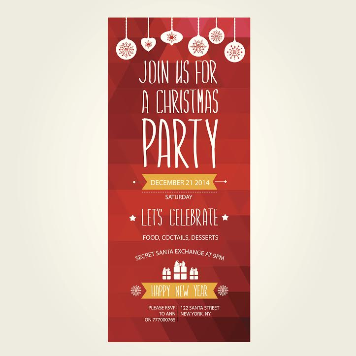 professionally printed christmas party invitations for your office party