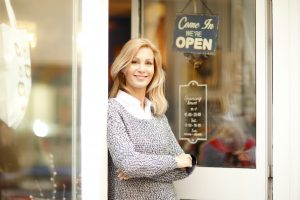 Clothing store owner businesswoman